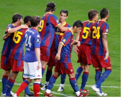 FC Barcelona a purtat tricouri personalizate cu Herbalife