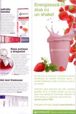 Herbalife in revista UNICA