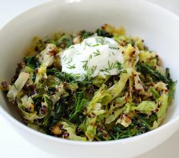 quinoa_prajita_cu_lamaie_si_varza